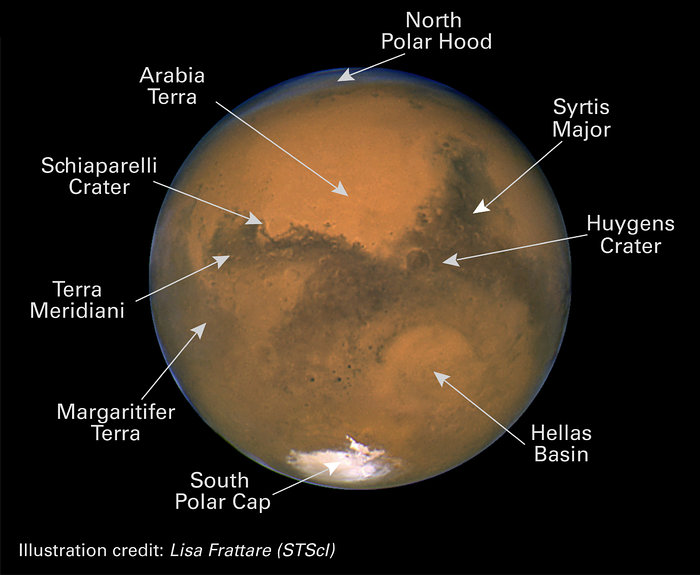 This is a map of Mars provided by Lisa Frattare (STScl)