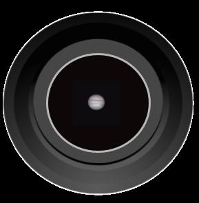 planet Jupiter through 6inch telescope