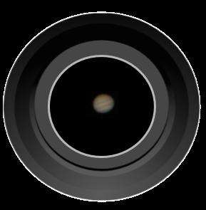 planet Jupiter through amateur telescope
