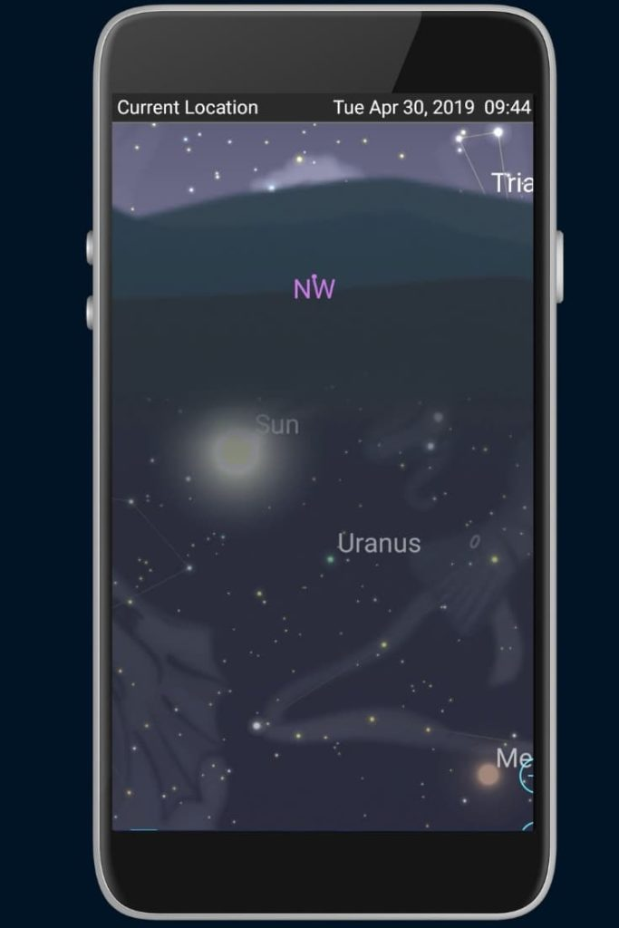 How to find uranus with your phone