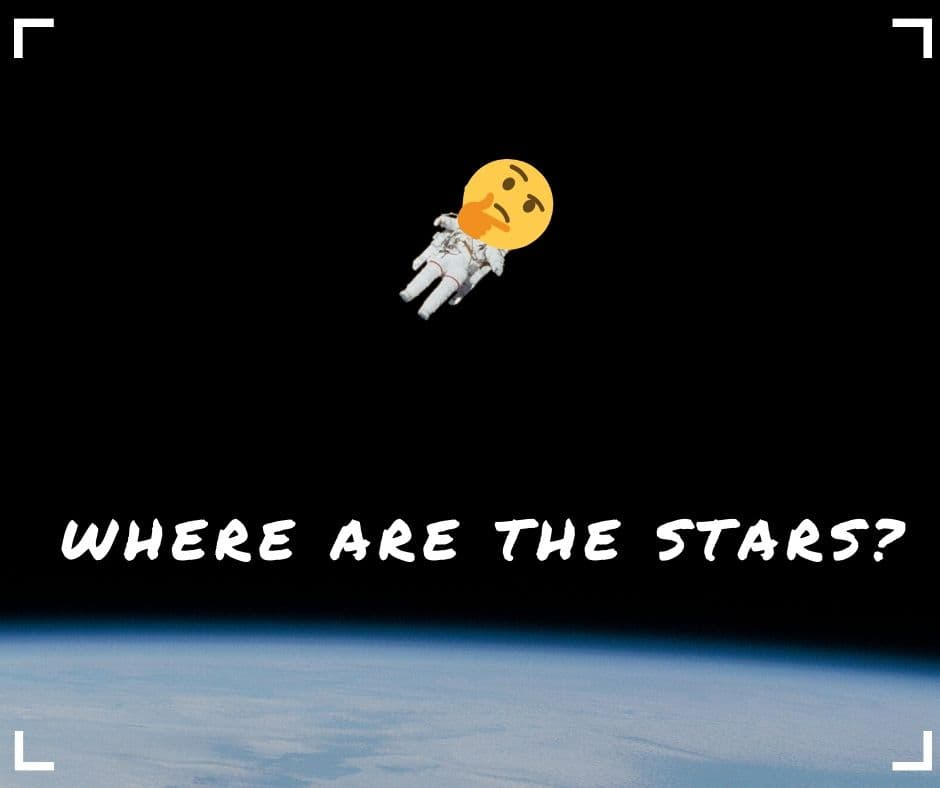 Can you see stars in space?