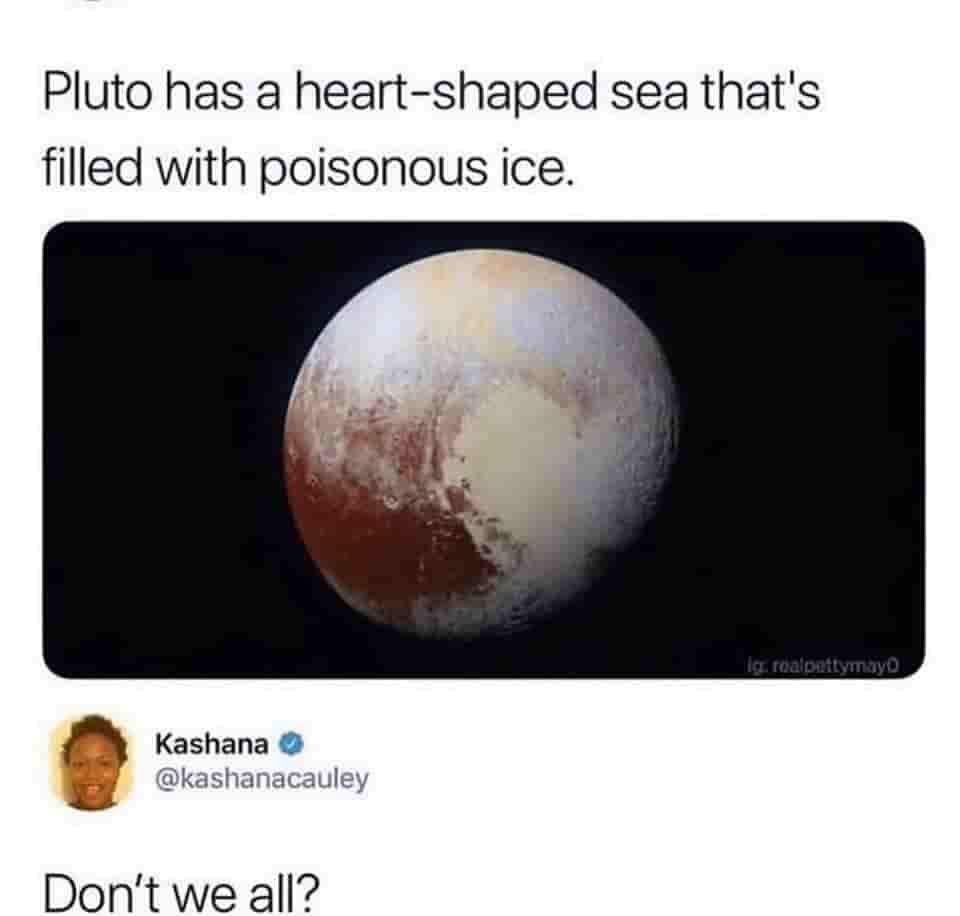 Pluto's Cold Heart