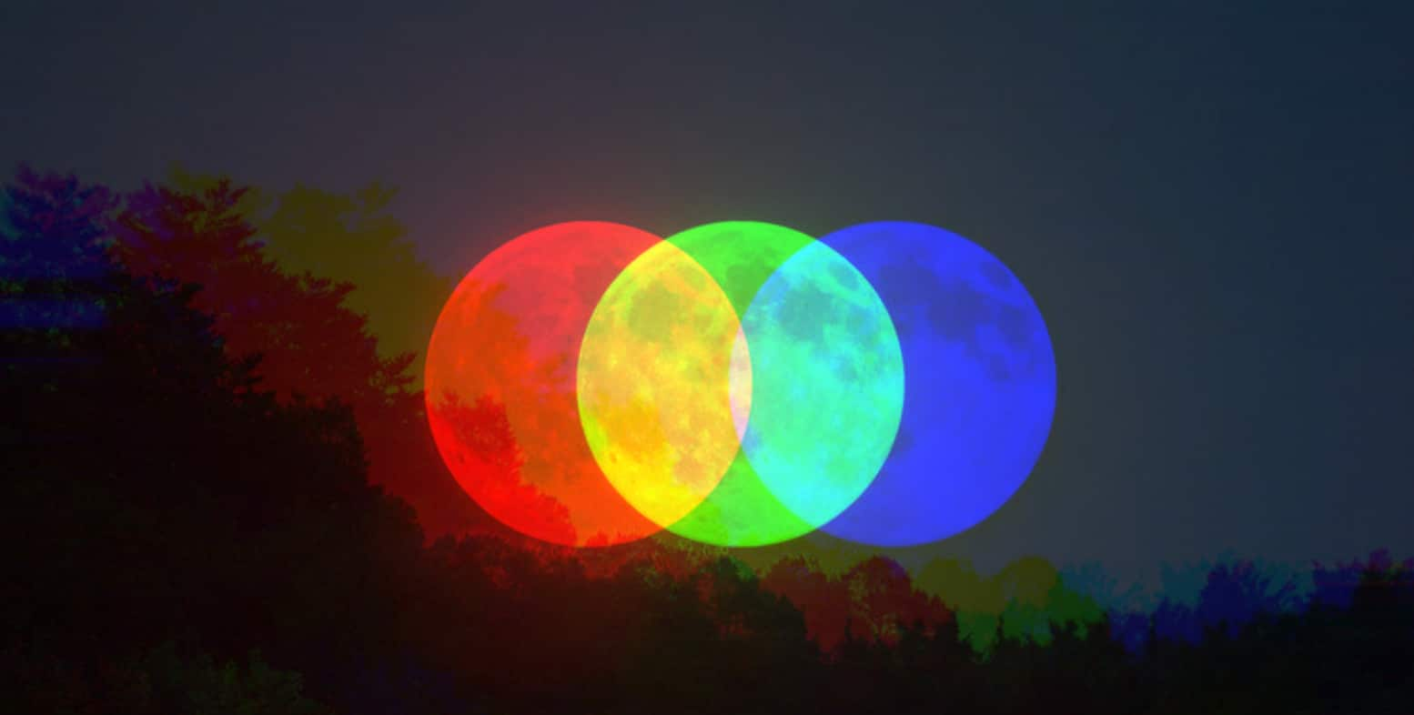 true colors of the moon
