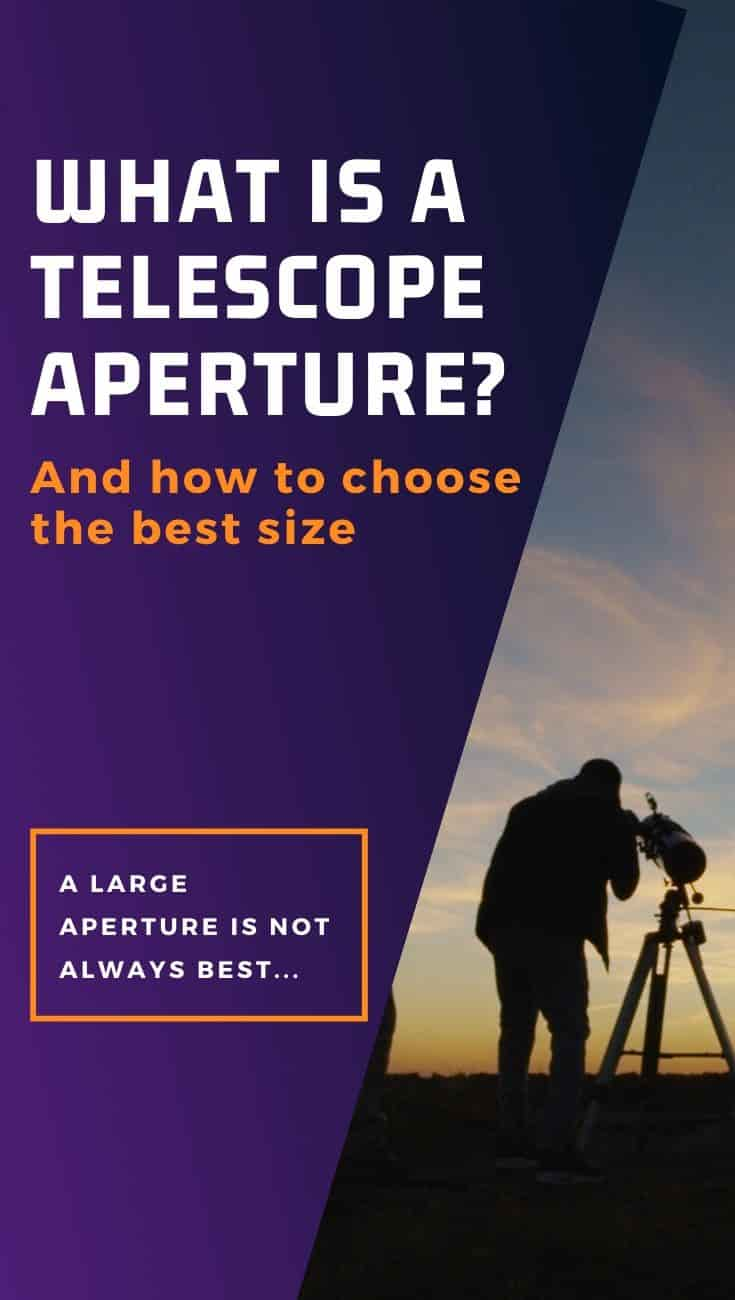 What is a telescope aperture?
