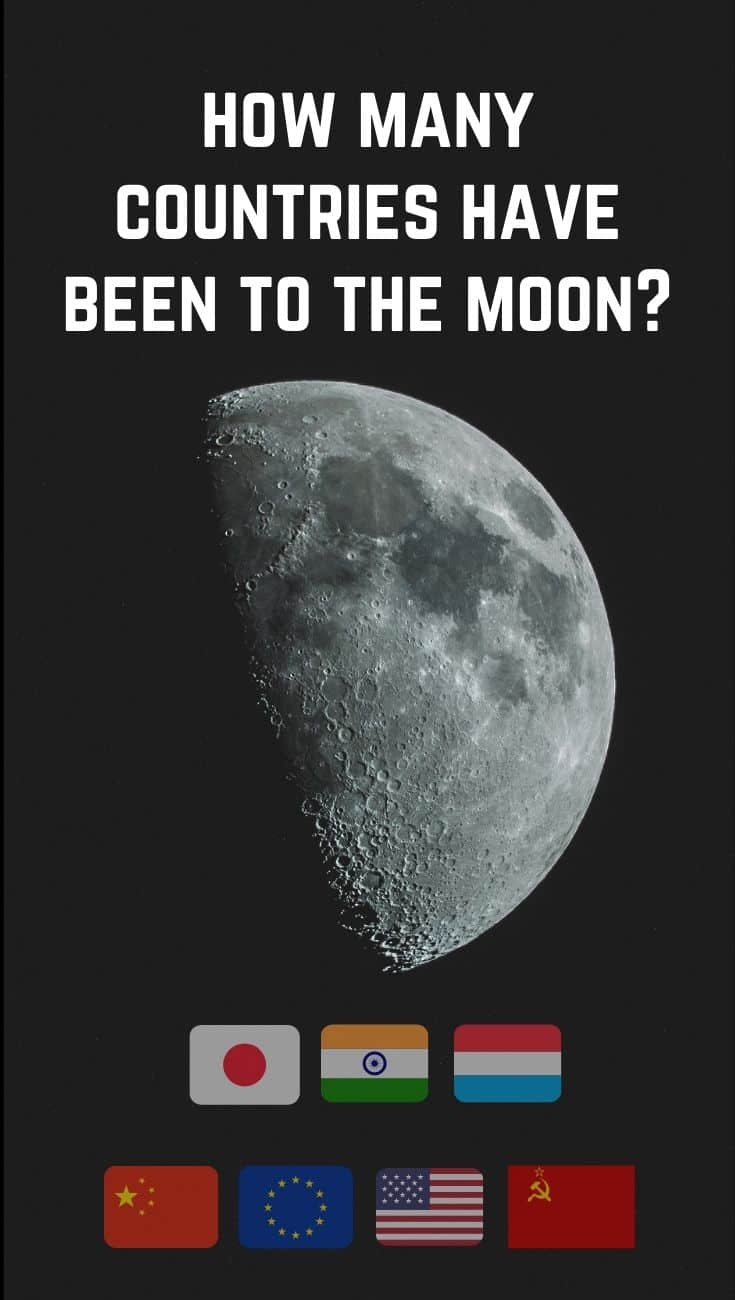 How many countries have been to the moon?