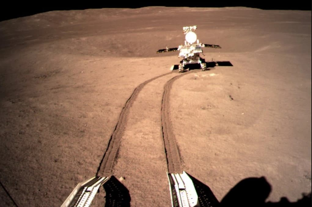 Chinese rover landing on the moon