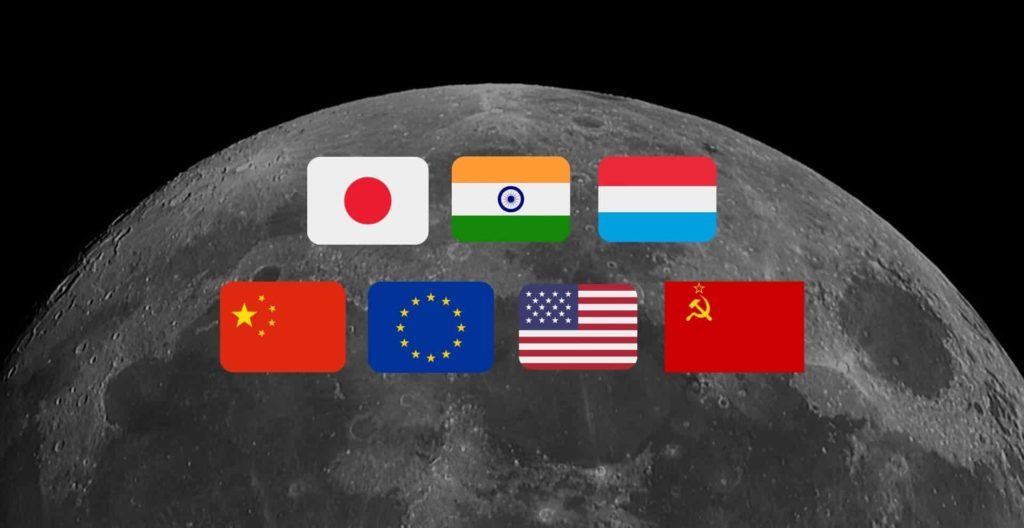 Countries that have been to the moon