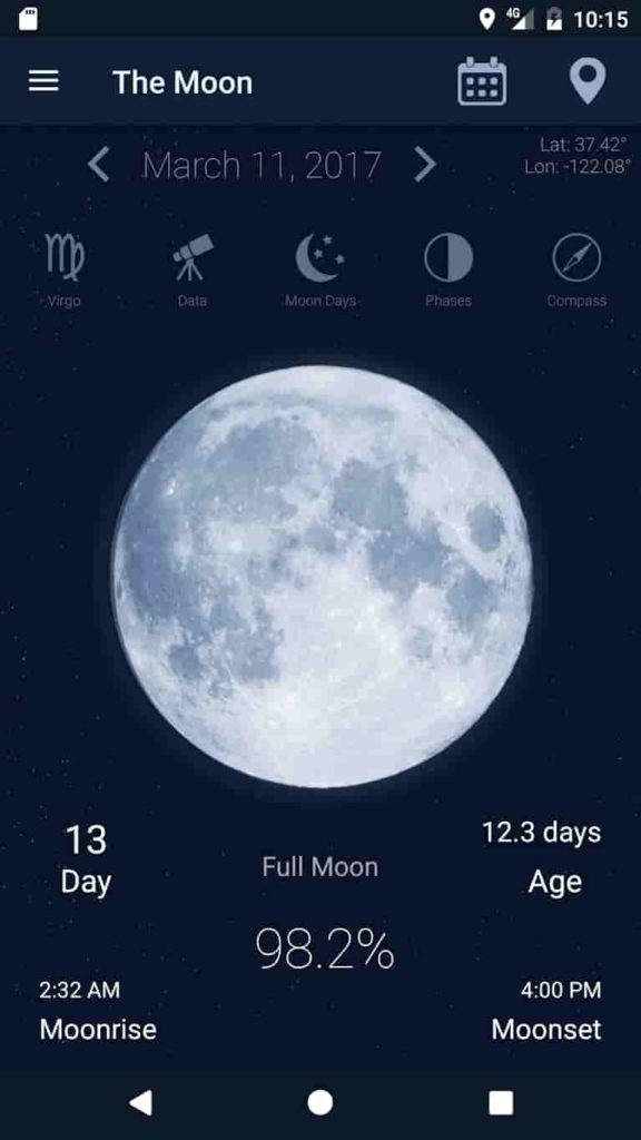 The Moon Phase App