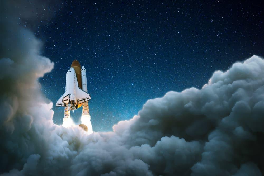 Rocket Flying Off