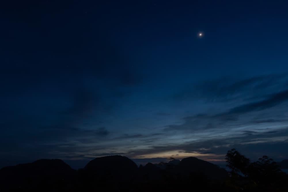 Venus in the night sky
