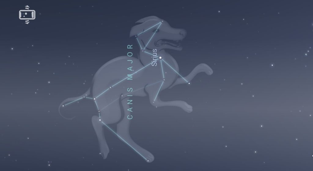Sirius is located in Canis Major