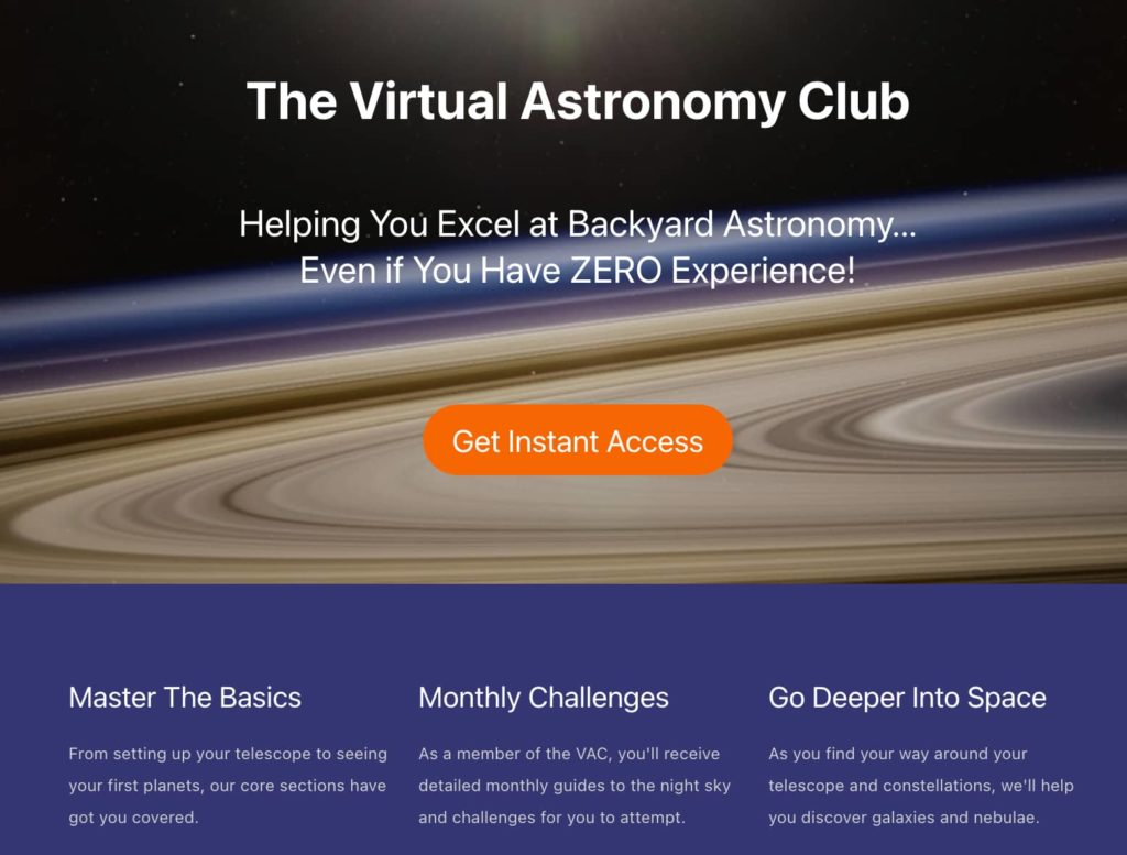the virtual astronomy club
