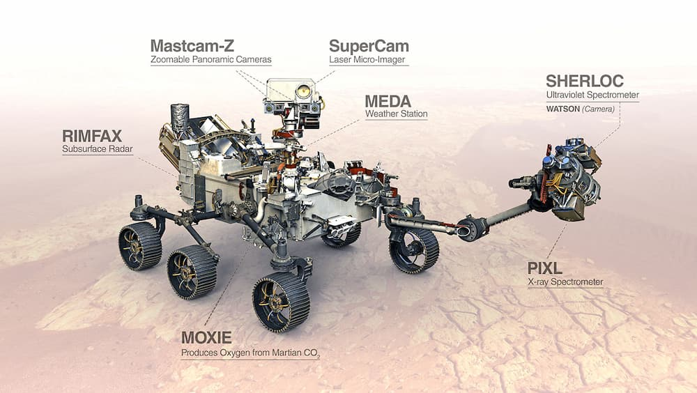 tools onboard perseverance rover