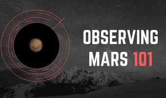 Mars with telescope guide