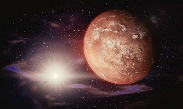 a planet and a star
