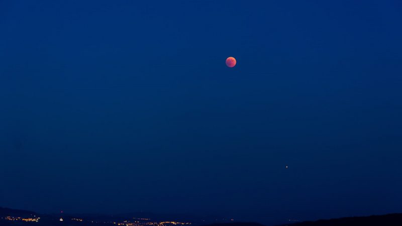 The Blood Moon as seen from Switzerland in 2015