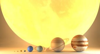 How big is the Sun compared to the planets in our solar system?