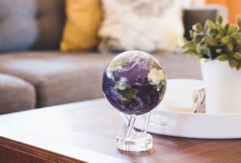 mova globe in the living room