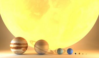 The planets in order by size